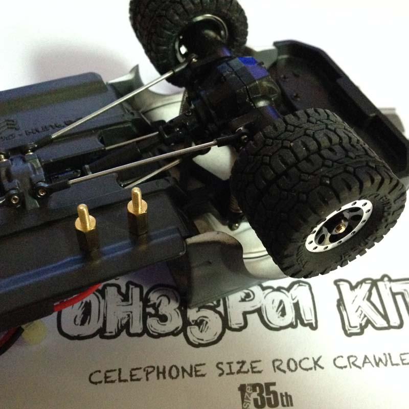 Orlandoo Hunter RC Crawler 1:35 Modified Two-wheel Widened Axle Bridge Wheels Modification Parts Metal Shaft Axle
