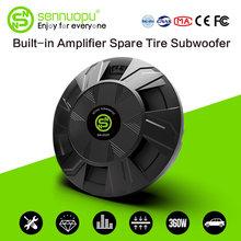 Sennuopu subwoofer carro classe ab amplificador de potência graves alto-falantes caixa de alumínio ativo sub woofer instalar no sistema de áudio pneu de reposição