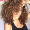 Pre-Colored Hairstyles For Short Curly Hair Brazilian Hair Weave Bundles Non-Remy Human Hair Weave 1/2/3/4pcs/lot Middle Ratio
