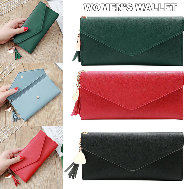 Women Fashion Long Tassel Wallets Bags and Wallets Unisex color: Black|dark green|Dark Pink|Gray|Light pink|Light purple|Red|Sky Blue