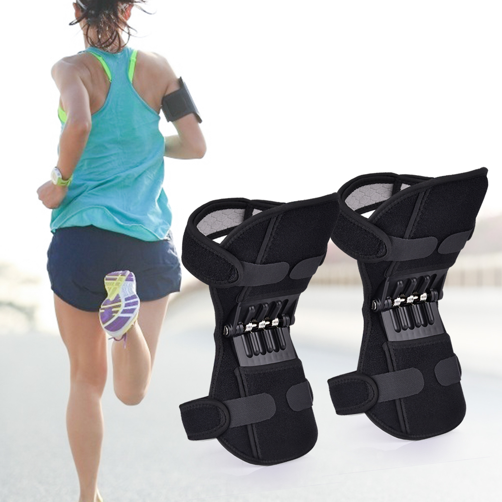 Joint Support Knee Pads Breathable Non-Slip Power Lift Knee Booster Powerful Rebound Spring Force Walk Support Knee Leg Protect