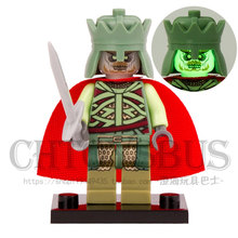 Witch-King LOR071 The Lord of the Rings Hobbit Rohan Grima Aragorn Boromir minifig DIY Building Blocks Kids Xmas Toy(China)