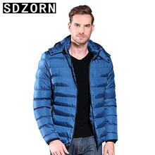 Mens Hooded Jacket Plain Padded Parka Simple Warm Coat for Men 2019 New Fall Winter Bottoming  Jackets