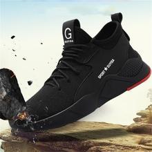 2021 nowe męskie obuwie ochronne Mesh Steel Toe bezpieczeństwo odporne na przebicie trampki robocze Plus rozmiar oddychające buty męskie buty wulkanizowane tanie tanio SUN FOR YOU Siateczka (przepuszczająca powietrze) CN (pochodzenie) Płytkie Stałe Na wiosnę jesień Sznurowane Mieszkanie (≤1cm)