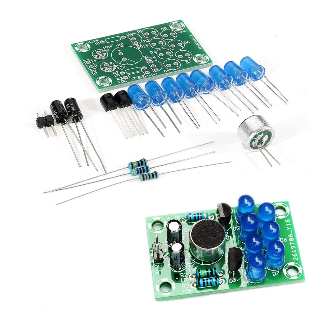 DIY Set Voice-activated Melody Light Electronic Kit Fun Soldering Practice Production Board Training Parts
