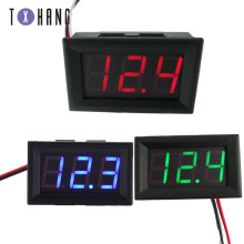 цена на Mini Digital Voltmeter DC 0V-30V Digital Voltmeter Voltage Panel Meter Red / Blue / Green Electric Meter Ammeter diy kit
