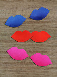 Pad Nipple-Cover Breast-Stickers Pasties Invisible-Bras Self-Adhesive Lips-Shape Disposable