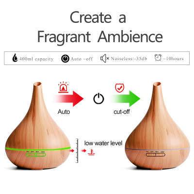 400ml Luft Ultraschall-luftbefeuchter Ätherisches Öl Diffusor Aroma Lampe Aromatherapie Elektrische Aroma Diffuser Nebel-hersteller für Home-Holz