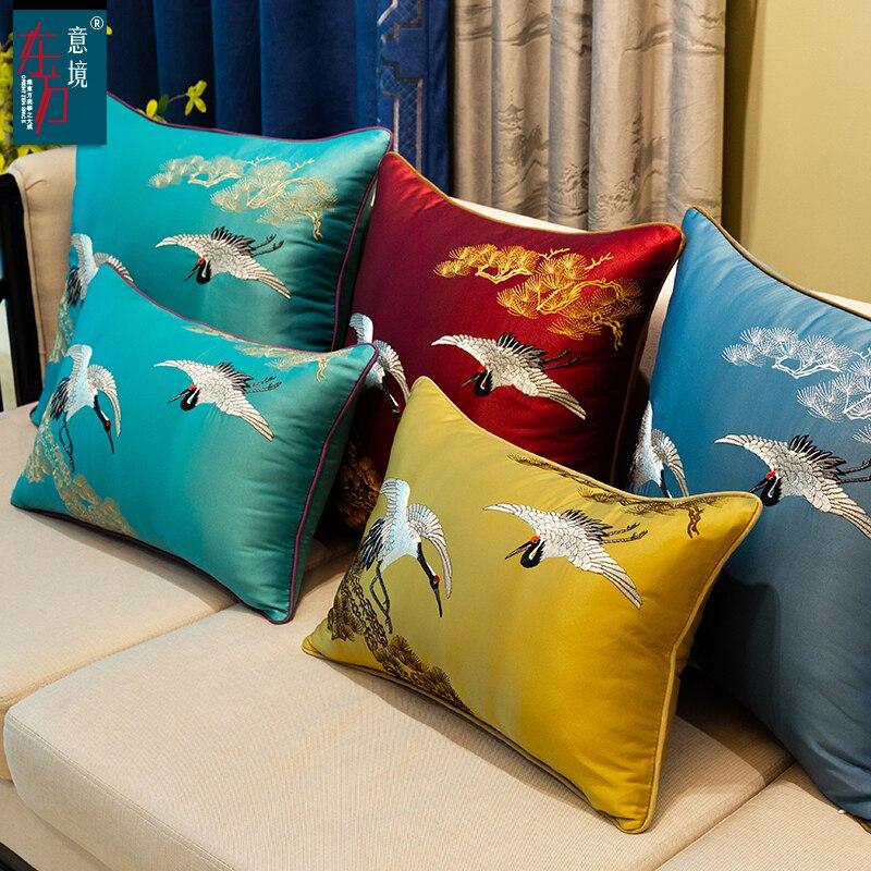 Crane Silk Cover Cushions Pillow Cases