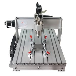 Image 1 - 4 ピース/ロット彫刻機クランプ、加圧装置、プライヤー、木工ホルダー、アルミクランプcncフライス機