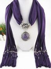 Jewelry pendant fringed scarf irregular round alloy Pendant fashion ladys autumn and Winter Scarf