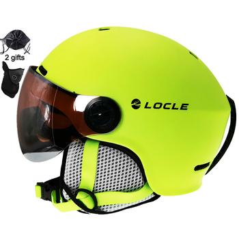 LOCLE-Ultralekki kask narciarski pC + EPS CE EN1077 dla kobiet i mężczyzn na narty i snowboard do sportów terenowych na deskorolkę tanie i dobre opinie CN (pochodzenie) Dla osób dorosłych inny PC+EPS M(52-56cm) L(57-60cm) about 450g Children Teenager Adult Ultralight Integrally-molded