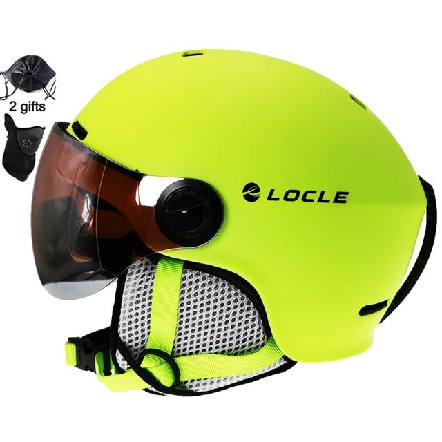 LOCLE סקי קסדת Ultralight מחשב + EPS CE EN1077 גברים נשים חוצות ספורט סנובורד/סקייטבורד קסדה