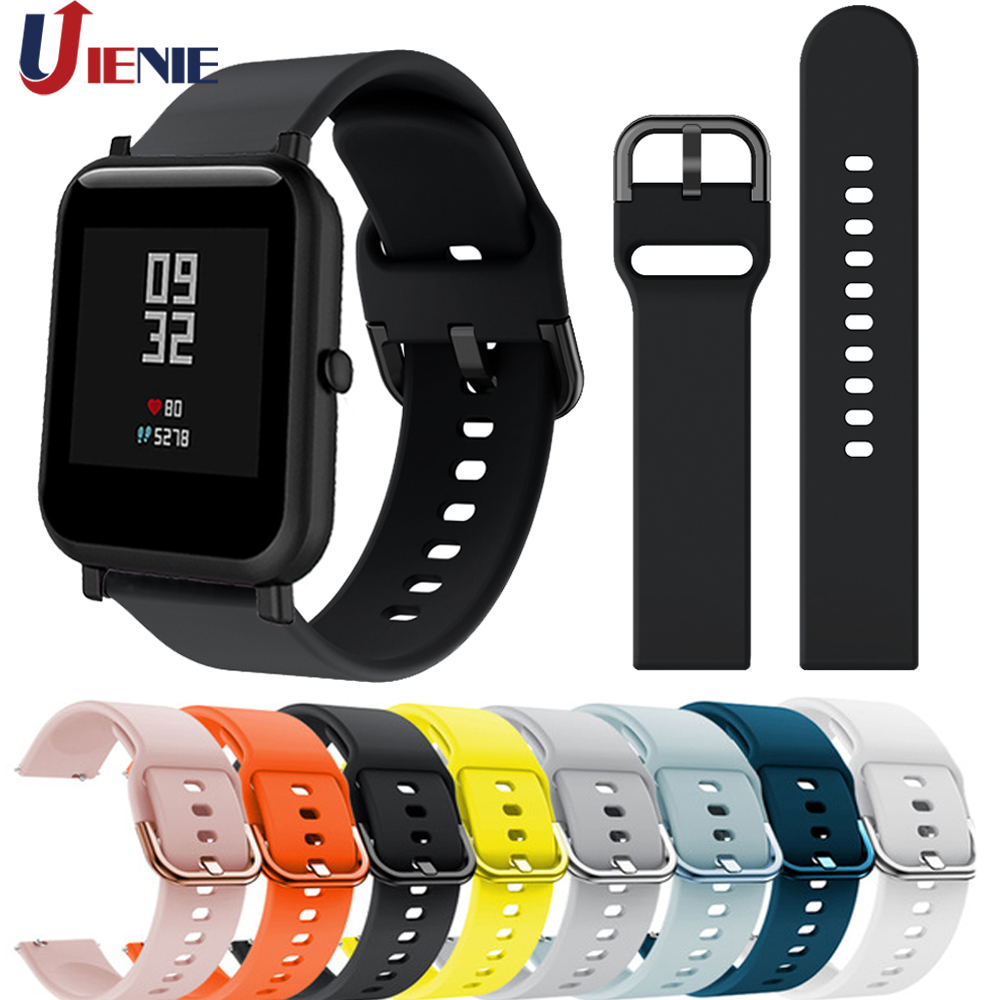 Silicone Watch Band Wrist Strap For Xiaomi Huami Amazfit Bip Lite Youth/GTR 42mm Watchband 20mm Bracelet For Galaxy Watch 42mm