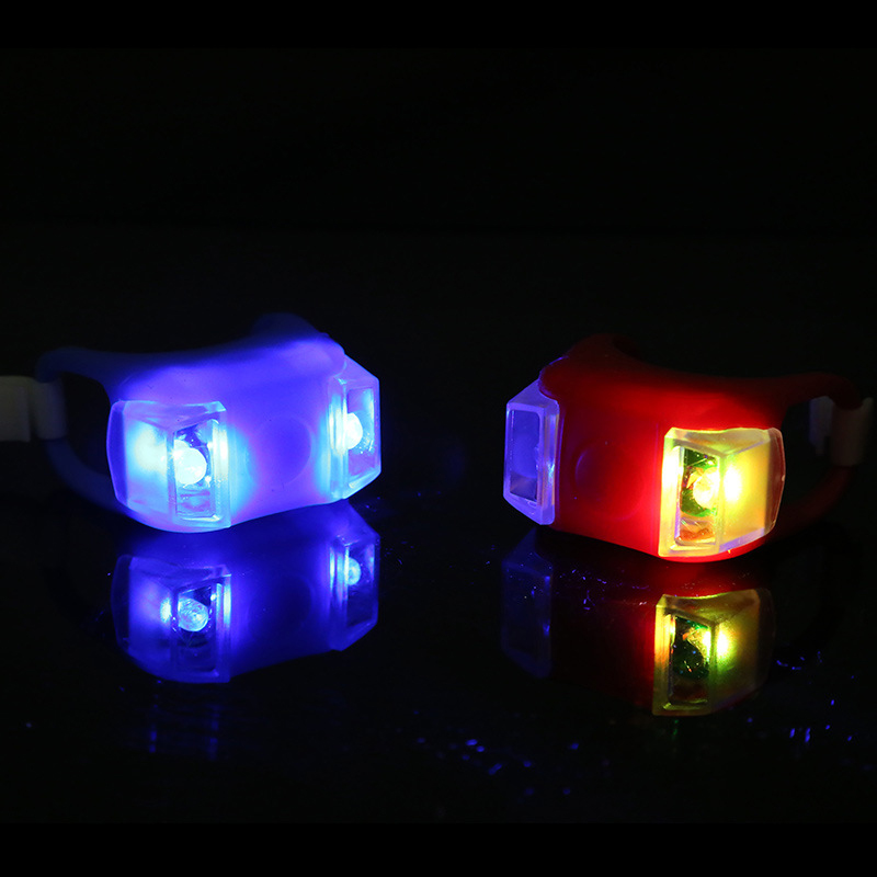 Bicycle Front Light Super Waterproof Double LED Bike Lights High Brightness Cycling Headlight Tail Flashlight