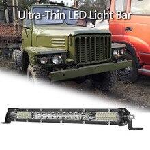 2021 NEW 1PC 10 inch Ultra-Thin LED Light Bar Combo Beam Spots Floods Beam ATV 10 inch Super Slim LED Bar 78W 6000K #Ger