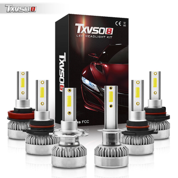 6000K 12V COB Led Car Headlight H4 H7 Light Bulbs H1 H11 H8 H3 H9 9005 HB3 9006 HB4 110W 20000LM Headlamp Auto Lamp Fog Lights