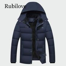 Rubilove Winter Mens Thick Coats Warm Male Jackets Padded Casual Hooded  Parka New Men Overcoats Brand Clothing