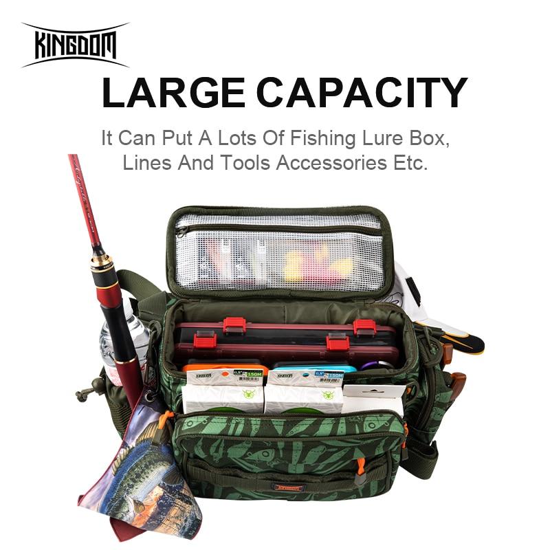 Multifunction Fishing Bag 600D Nylon Fish Lure Bait Shoulder Crossbody Pack