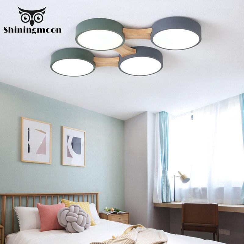 Nordic Fashion 220V LED Ceiling Lamp Round Metal Lampshade Lighting Ceiling for Living Room Livingroom Deco Ceiling Light Lustre