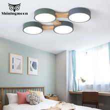Nordic Fashion 220V LED Ceiling Lamp Round Metal Lampshade Lighting Ceiling for Living Room Livingroom Deco Ceiling Light Lustre