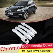 Para Toyota RAV4 XA30 2006, 2007, 2008, 2009, 2010, 2011, 2012 lujosa cubierta cromada de manija de puerta corte de pesca Cap accesorios de estilo de coche