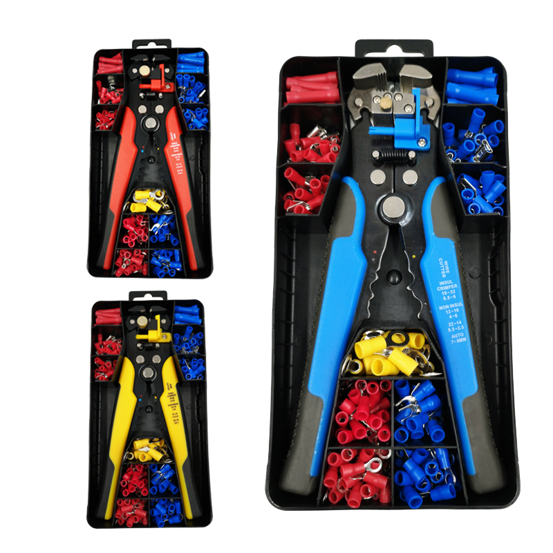 Wire Stripper And Cable Length Adjustable Multi-functional Stripping  Terminal 0.2-6mm2 AWG24-10 Hand Tools Crimping Pliers