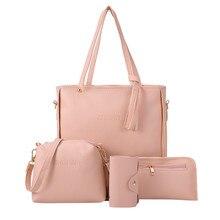 4 Pcs Woman Bag New Fashion Four-Piece Shoulder Bag Messenge