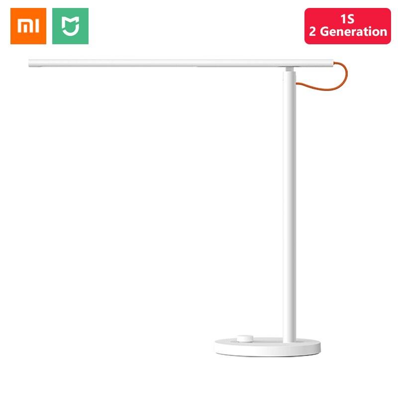 Original Xiaomi Smart Mijia LED Desk Lamp 1S 9W Table Lamp 4 Light Mode Dimmable HomeKit Mi Home APP Siri Voice Control Smart Remote Control     - title=
