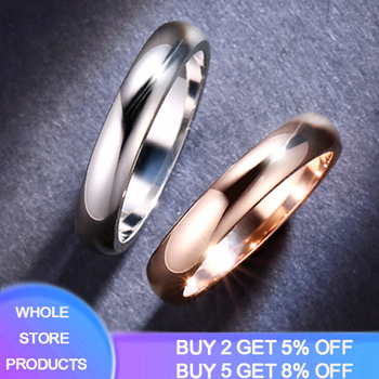 2020 New Rose Gold/White Gold Color Rings Unisex 4.5mm Thin Engagement Rings Fashion Jewelry For Men Women Dropshipping R050 mae rose gold color round thin titanium stainless steel rings for women simple style fashion jewelry weding rings