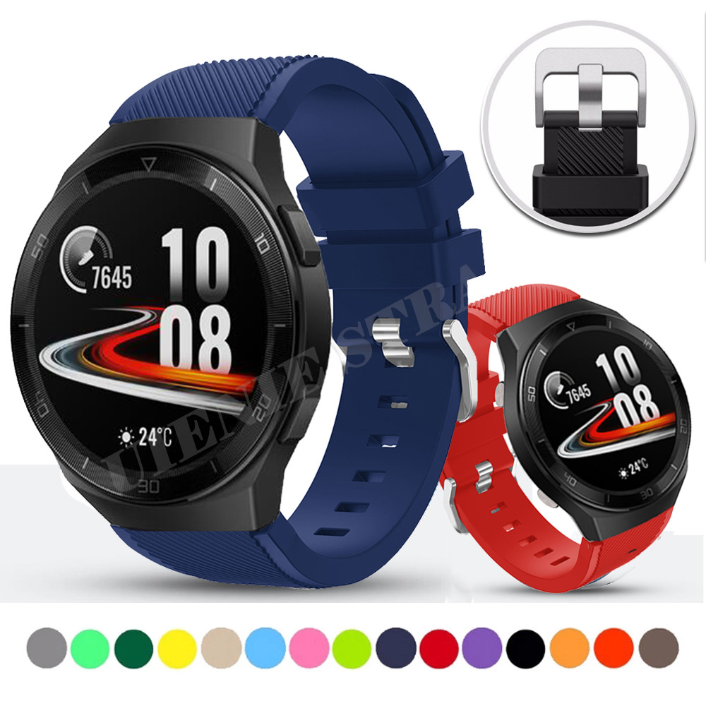 For Huawei Gt2e Strap For Honor Magic Watch 2 46mm Huawei Watch GT 2 2e Bracelet 22mm Watch Band Replacement Silicone Watchbands