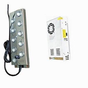Cabeça 10 Ultrasonic Névoa Criador Fogger Bebedouros Pond Atomizador Umidificador de ar Com 110 V/220 V fonte de Alimentação