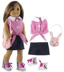 Novo 18 polegada boneca roupa para 18 polegada boneca americana muitos estilo para a escolha #37