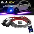 Автомобильный светодиодный Underglow фонари атмосферная лампа для различных световых эффектов с приложение Управление гибкие светодиодные ле...