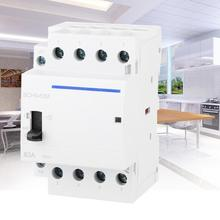 BCH8-63M 4P 63A 230V 50/60HZ Household AC Modular Contactor with Manual Control Switch Electrical Equipment 4NO 2NO/2NC 4NC high quality manual dc ac generator laboratory electrical experiment equipment