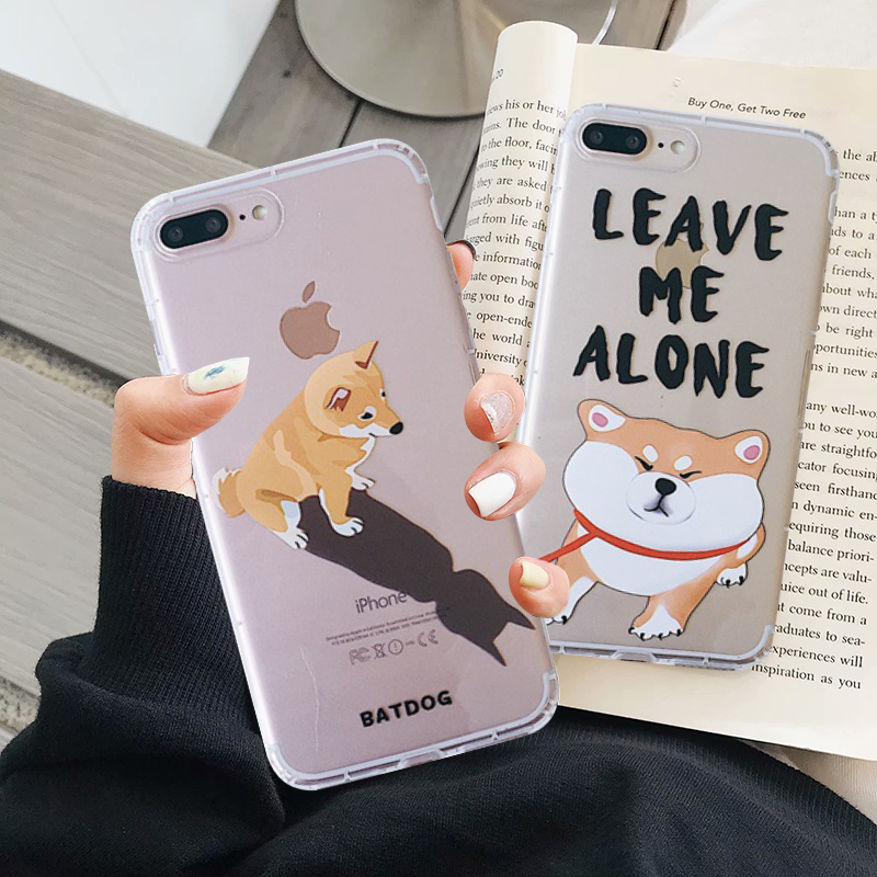 Japan Ins Shiba Inu Akita Hund Nette Cartoon Telefon Fall für <font><b>IPhone</b></font> 11 Pro Max 6 6s <font><b>7</b></font> 8 <font><b>plus</b></font> X Xs Max Xr Klar Soft Cover Fundas image
