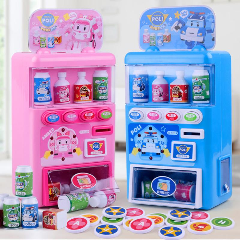 Toy Play Coins Children Shops Shopping Miniature Plastic Mini Vending Machine Store Supermarket Playset Groceries Toys