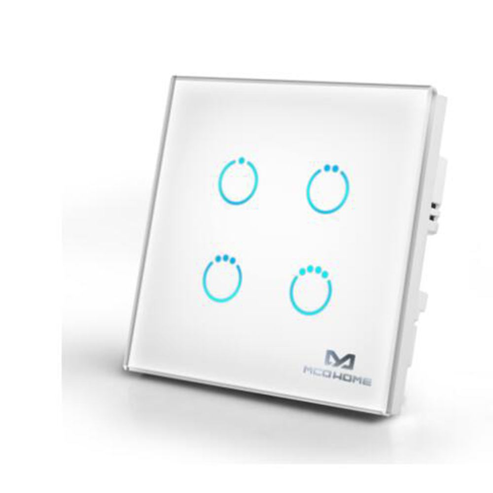 Smart Light Switch 1/2/4CH Gang Touch Panel Switch Z Wave Plus EU 868.4MHZ Smart Home Automation Remote Control
