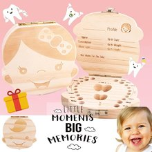 Wooden Baby Hair Deciduous Teeth Storage Box Umbilical Cord Collection Box Creative Wooden Gift Solid Wood Storage Box