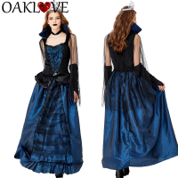 Halloween Blue Enchantress Palace Dress New Queen Earl Dress Vampire Party Costume Dressing Average Size for Women