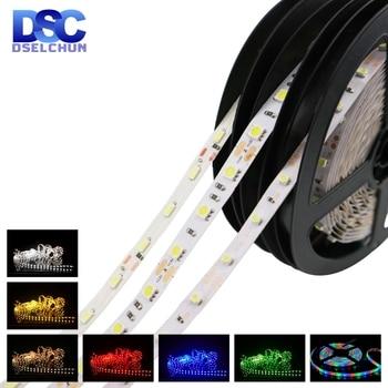 цена на 5m/lot LED Strip DC12V 5050 2835 60 LEDs/m Flexible LED Light RGB/White/Warm White/Blue/Green/Red Waterproof LED Strip Lights