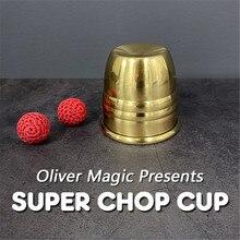 Super cortar taza (latón) por Oliver taza mágica y bolas cerca de magia magnética tazas mago magia ilusionismo trucos truco apoyos