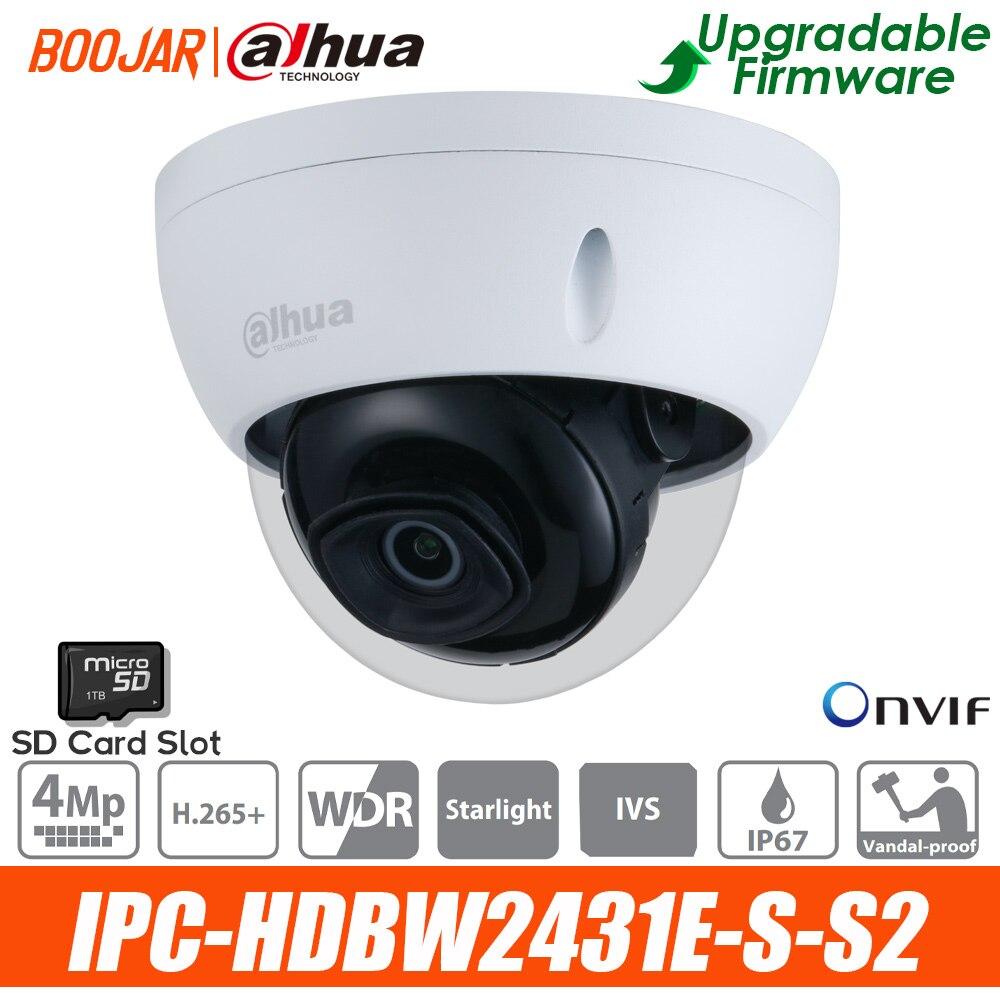 IP-камера Dahua IPC-HDBW2431E-S-S2 4 МП, инфракрасная купольная сетевая мини-камера POE starlight, улучшенная версия, оригинальная внутренняя связь
