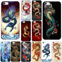 Soft TPU Silicone Phone Cases for iPhone X XR XS 11 Pro Max 8 7 6 6S Plus 7Plus 8Plus 5 5S SE Coque Shell Chinese Dragon(China)