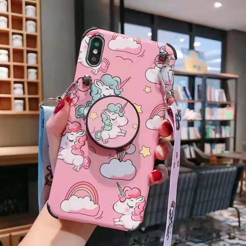 Rainbow Unicorn Case With Stand Holder