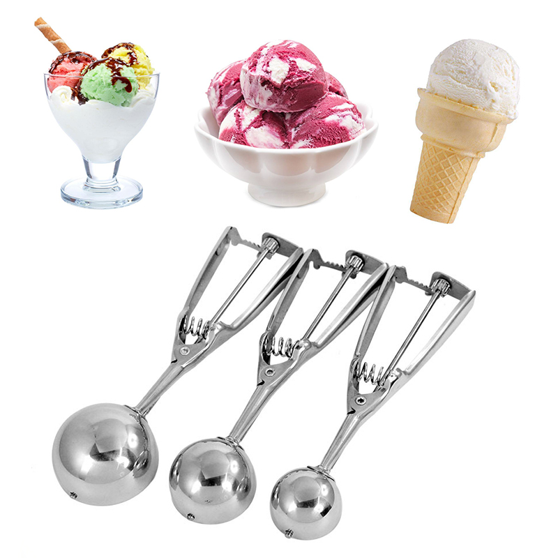 1 шт. Нержавеющаясталь ложка для мороженого пюре арбуз желе Печенье Весна ручка Совок Кухня аксессуары