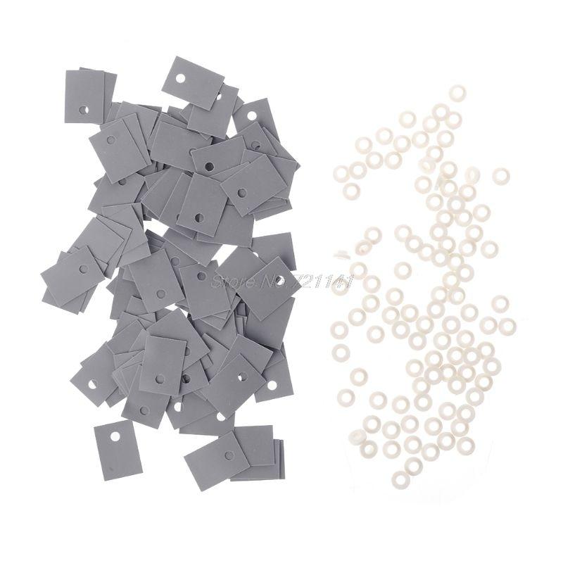 Пластиковый изоляционный транзистор для мойки от 100 до 220 шт. и силиконовые прокладки TO-220, комплект изоляторов, Прямая поставка