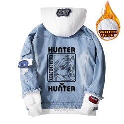 Hunter x hunter hoodie Killua Zoldyck cosplay jas Denim jas voor mannen winter vrouwen Jeans Bovenkleding warm Losse sweatshirt