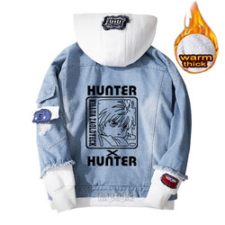 Hunter x hunter hoodie Killua Zoldyck cosplay mantel Denim jacke für männer winter frauen Jeans Oberbekleidung warme Lose sweatshirt