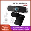 Новая USB веб-камера Xiaovv 1080P Ультра широкоугольная автофокусировка со встроенным микрофоном для ноутбука ПК онлайн-обучения
